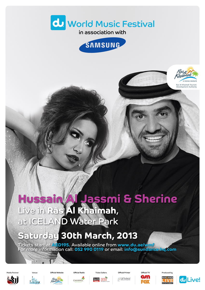 Hussain Al Jasmi and Sherine Live at Ice Land Water Park